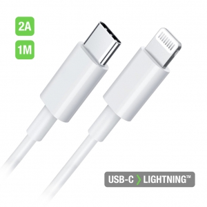 Câble de Charge - USB-C vers Lightning  1M