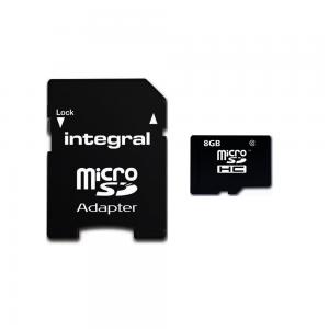 Carte Micro SDHC integral avec adaptateur Class 10 jusqu\\\'à 90MB/s - Taxe Sorecop incluse