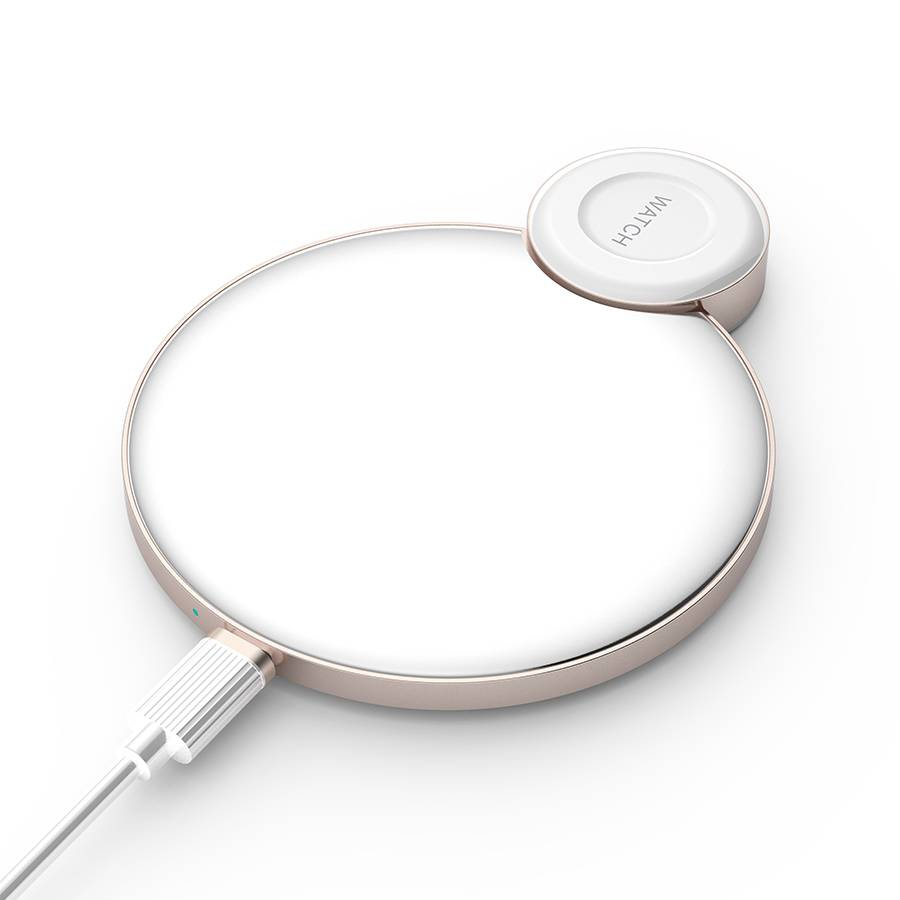 Chargeur Sans fil 2en1 Smartphone + Apple Watch