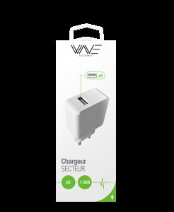 Chargeur Secteur 2A 5V 1 USB- Sous Blister