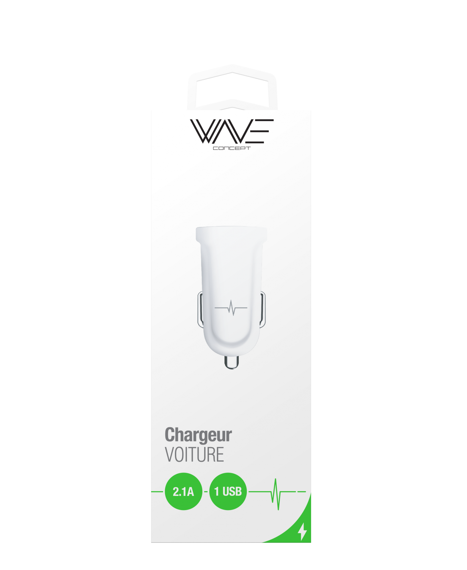 Chargeur Voiture 1 port USB 2.1A