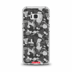 "Cover en TPU \""Don\'t Ask Me\"" Dark Grey pour Samsung Galaxy Série A"