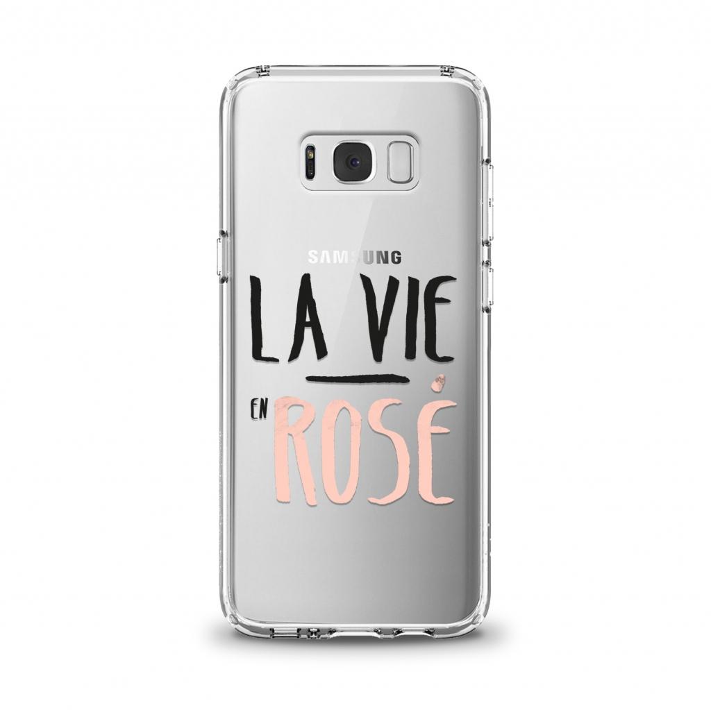 """Cover en TPU \""""La vie en rosé\"""" pour Samsung Galaxy Série A"""