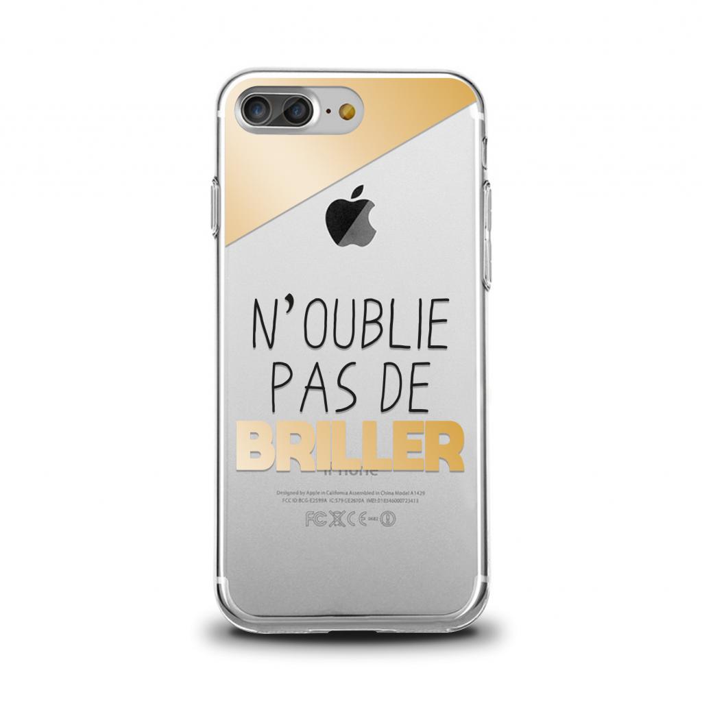 """Cover en TPU \""""N\'oublie pas de briller\"""" pour iPhone"""