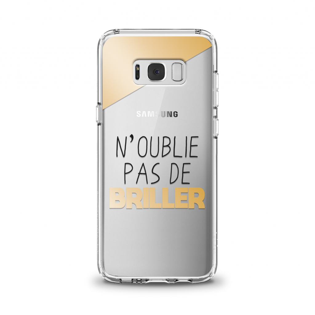 """Cover en TPU \""""N\'oublie pas de briller\"""" pour Samsung Galaxy Série J"""