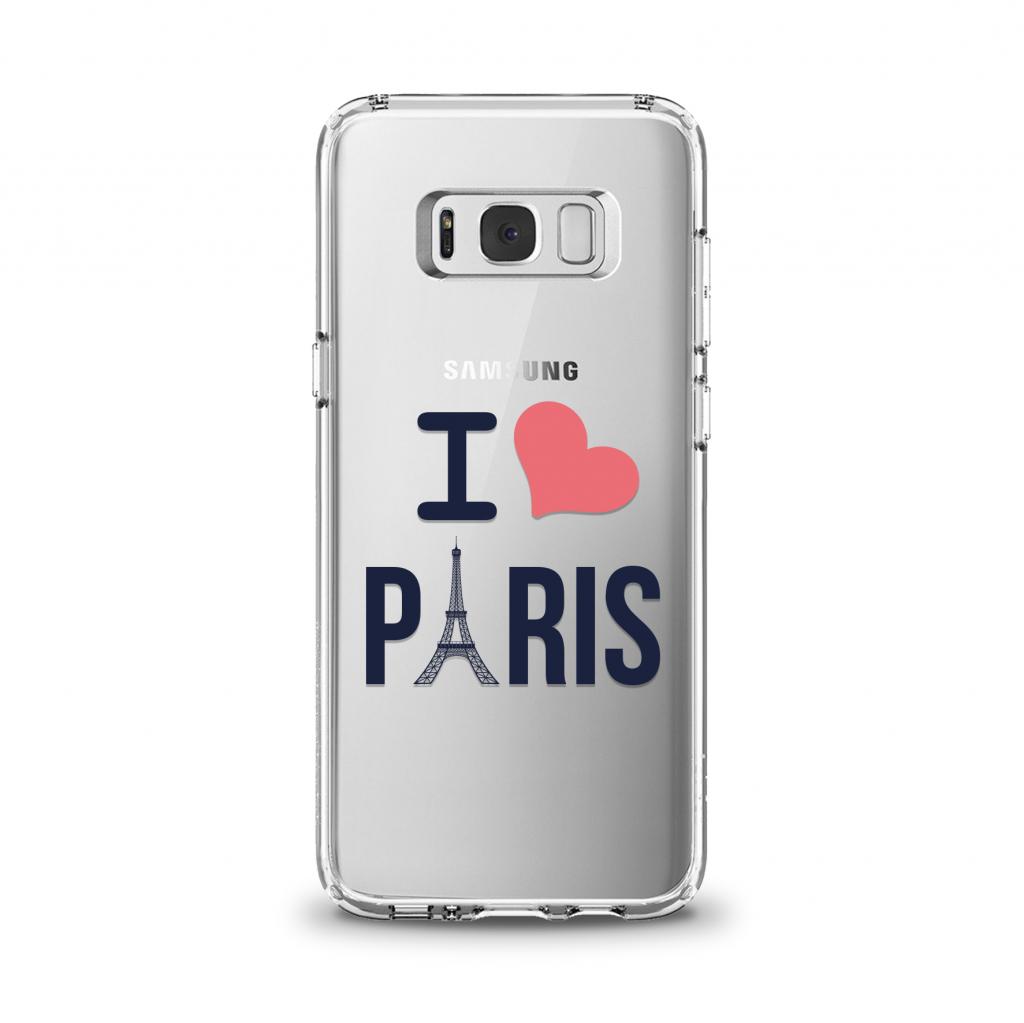 """Cover en TPU \""""Paris de Coeur\"""" pour Samsung Galaxy Série J"""