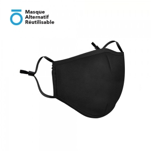 Masque Alternatif Réutilisable et Lavable avec 2 filtres PM 2,5 Attache oreille réglable