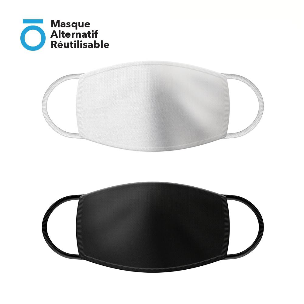 Masque Alternatif Réutilisable et Lavable avec Attache oreille réglable
