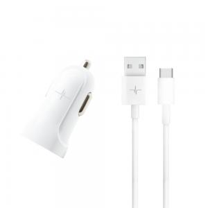 Pack Chargeur Voiture 1 port USB 2.1A + Câble USB-C 2.0