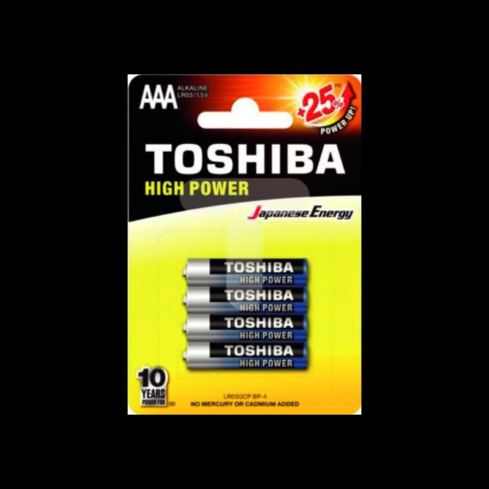 Piles Toshiba AAA LR03 1,5V ( vendues par 4 )
