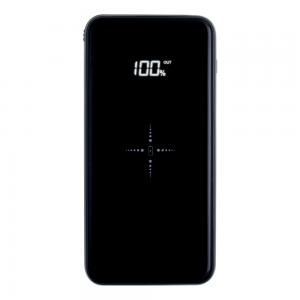 Power Bank 10000 mAh Full Power 3 EN 1 Glossy Black & Aluminium Induction Qi