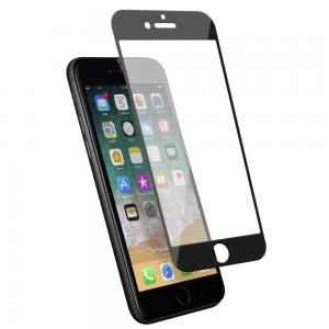 Protection d\\\'écran en verre trempé 3D pour iPhone 7/8 en fibre de carbone Soft black