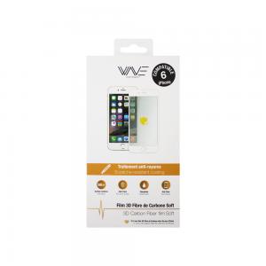 Protection d\\\'écran 3D pour iPhone 6/6s en fibre de carbone Soft white