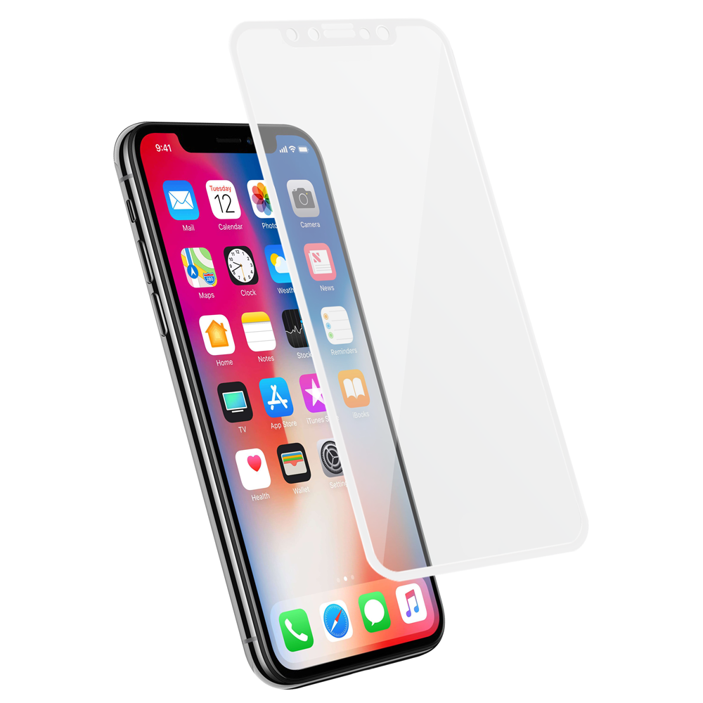 Protection d\\\'écran 3D pour iPhone X en fibre de carbone