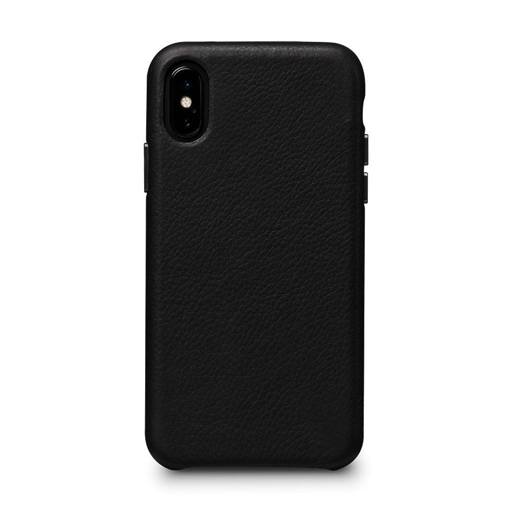 Skin Leather Black pour iPhone X