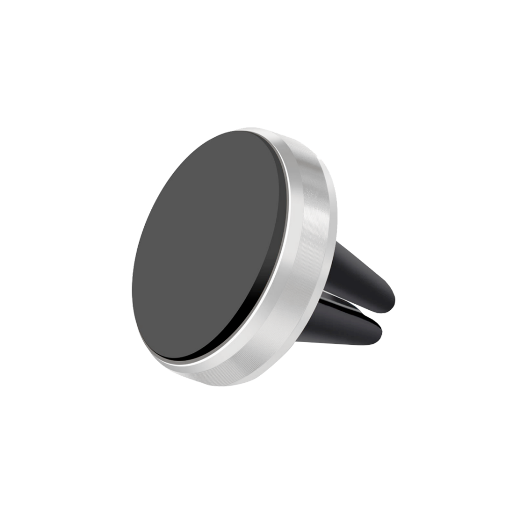 Support de Voiture Magnet Mini en Aluminium Brossé pour grille d\\\'aération