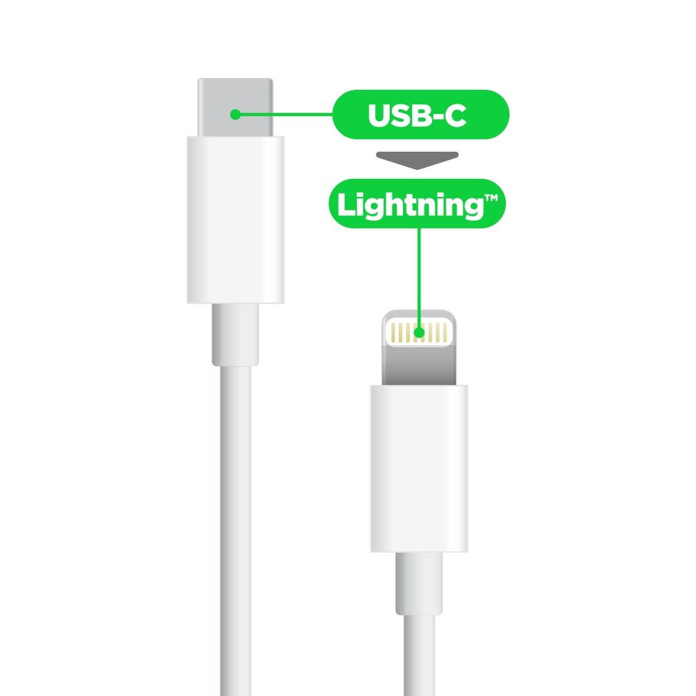 Câble de Charge - USB-C 2.0 vers Lightning  1M