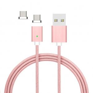 Câble Nylon Magnétique Fast Charge + 2 embouts Micro USB Wave Concept