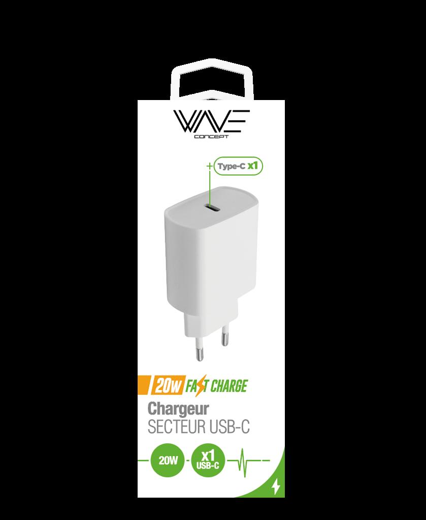Chargeur Secteur 1 port Type-C 20W