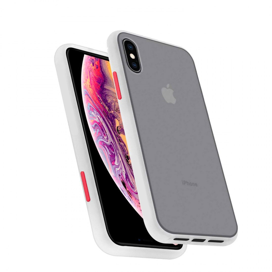 Coque de Protection Bumper Full Protect Bouton Interchangeable iPhone & Samsung