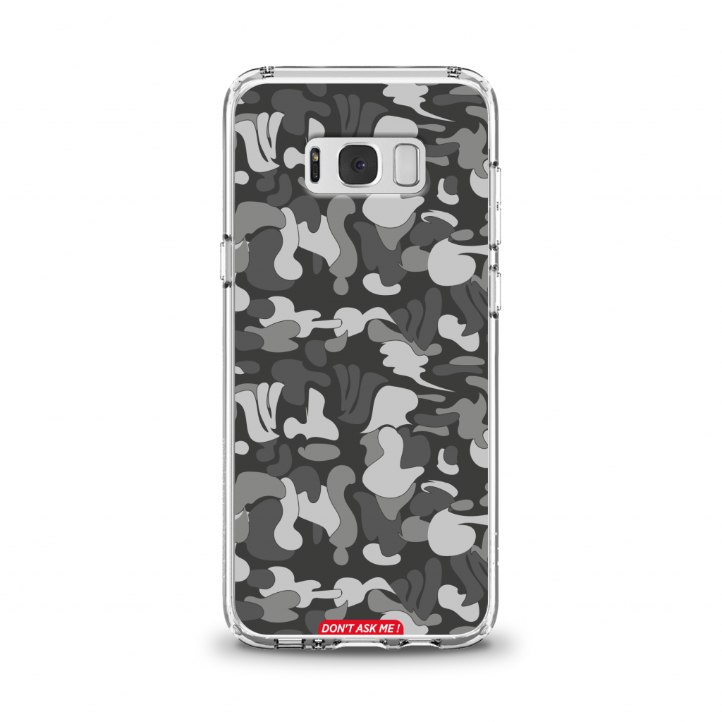 "Cover en TPU \""Don\'t Ask Me\"" Dark Grey pour Samsung Galaxy Série J"