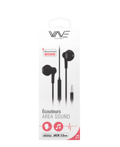 Ecouteurs Filaires Stéreo Gamme Area Sound Jack 3.5 mm
