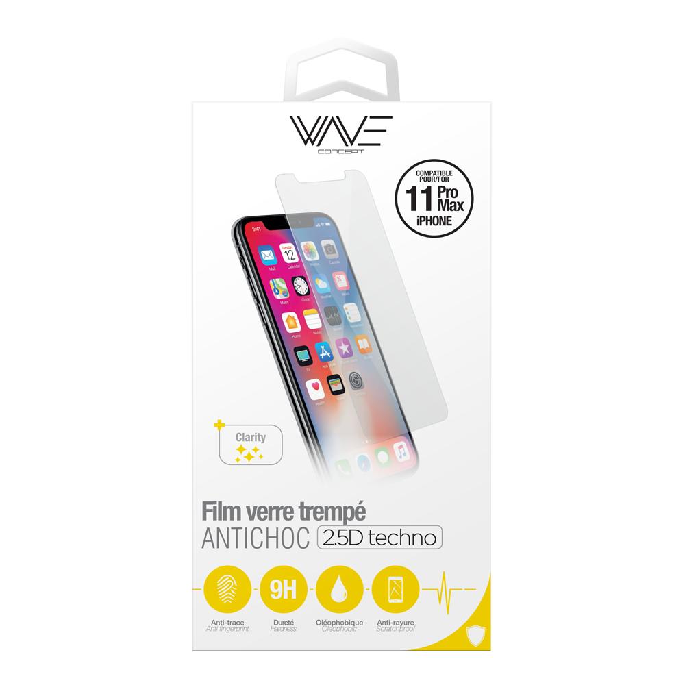 Film en verre trempé Anti-Choc pour iPhone 11 Pro MAx