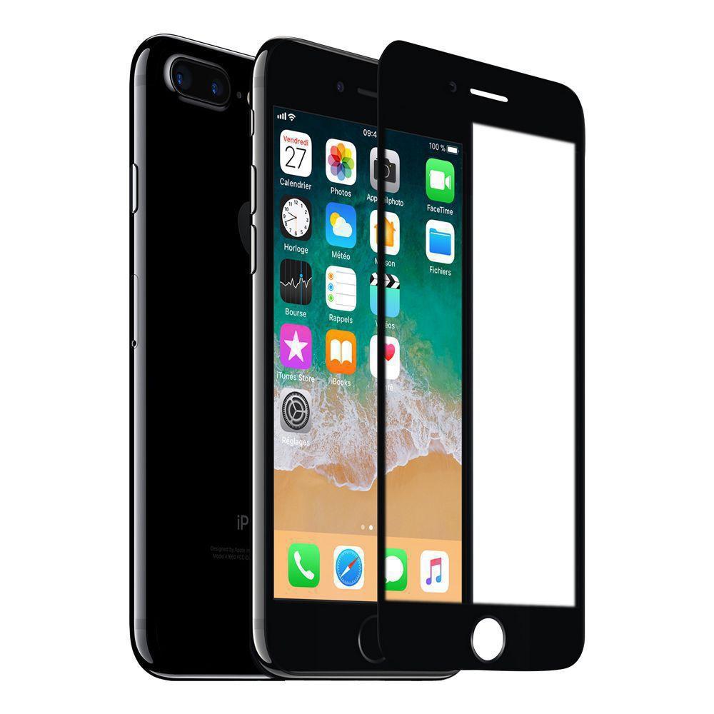 Film en verre trempé iPhone 7+ 3D+ Black Wave Concept