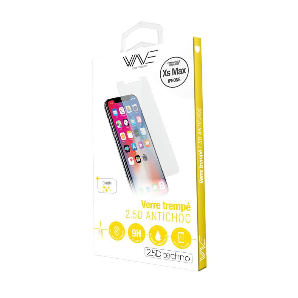 Film en verre trempé iPhone XS MAX Anti-Choc Wave Concept