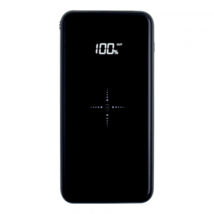 Power Bank 10000 mAh Full Power 3 EN 1 Glossy Black & Aluminium Induction Qi