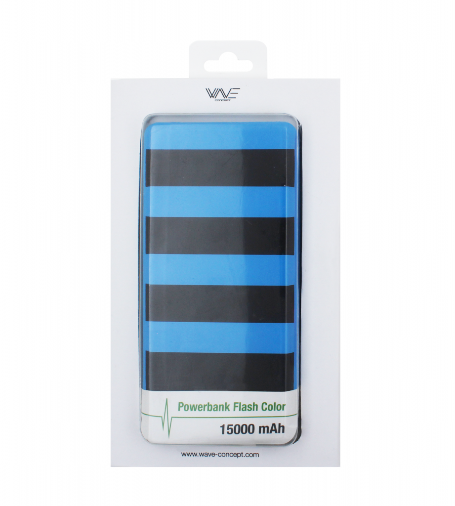 Powerbank Flash Color 15000 mAh Wave Concept