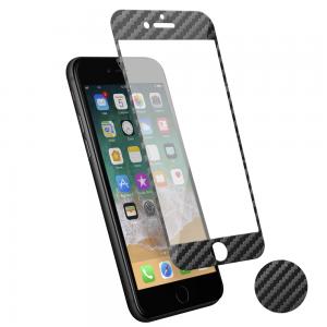 Protection d\\\'écran 3D iPhone 7+/8+ fibre de carbone Soft carbone
