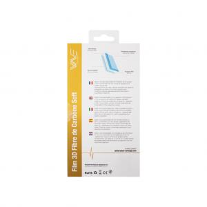 Protection d\\\'écran 3D pour iPhone 6+/ 6s+ en fibre de carbone Soft black