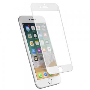 Protection d\\\'écran en verre trempé 3D pour iPhone 7/8 en fibre de carbone Soft white