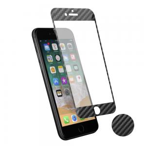 Protection d\\\'écran 3D pour iPhone 7/8 en fibre de carbone Soft carbon
