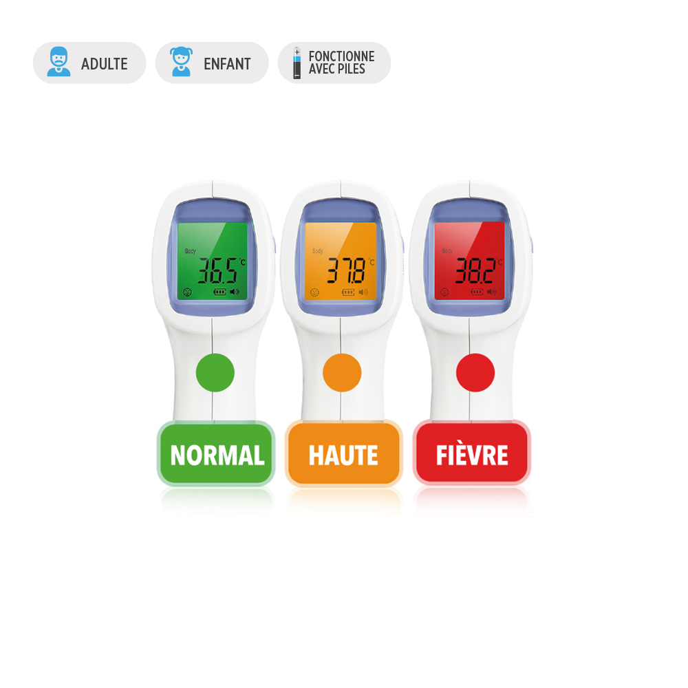 Thermomètre Frontal sans contact